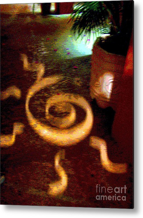 Darian Day Metal Print featuring the photograph House of Runes 4 by Darian Day by Mexicolors Art Photography