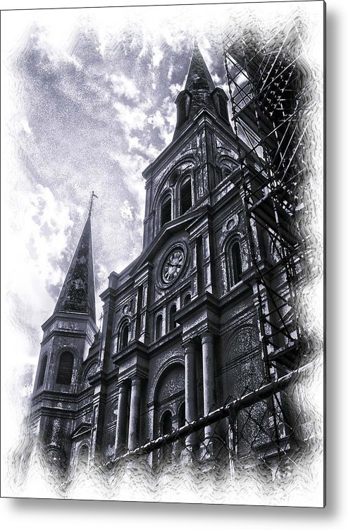 New Orleans Metal Print featuring the photograph Jackson Square Cathedral by Linda Kish