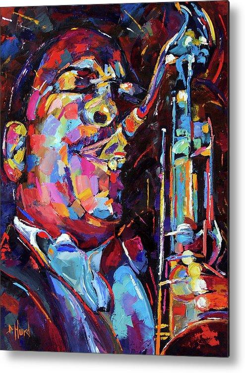 John Coltrane Metal Print featuring the painting Jazz Trane by Debra Hurd