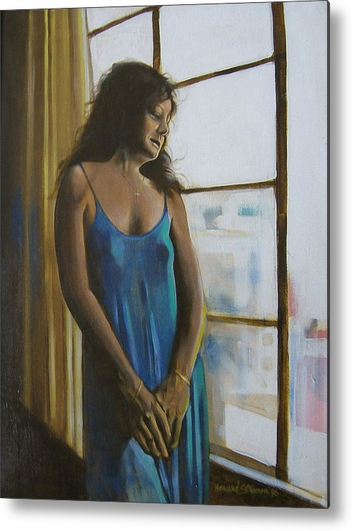 View From The 4th Floor Metal Print featuring the painting Jeanette by Howard Stroman