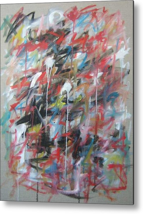 Abstract Metal Print featuring the painting Large Abstract No 4 by Michael Henderson