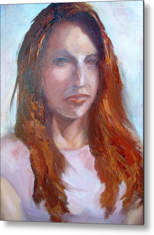 Portrait Metal Print featuring the painting Lisa II by Bryan Alexander