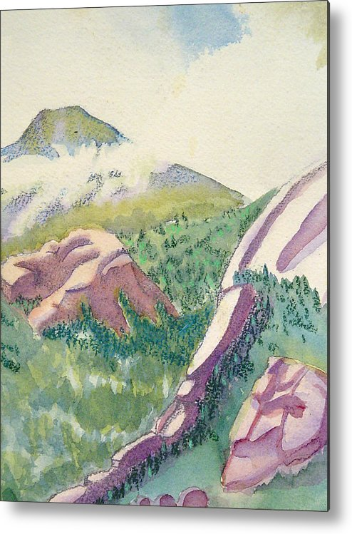 Mountains Metal Print featuring the painting Lost Creek by D T LaVercombe