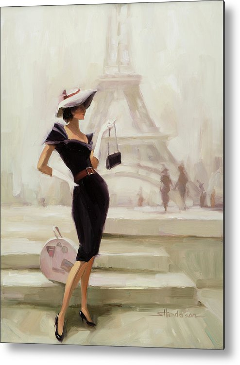 Paris Metal Print featuring the painting Love, from Paris by Steve Henderson