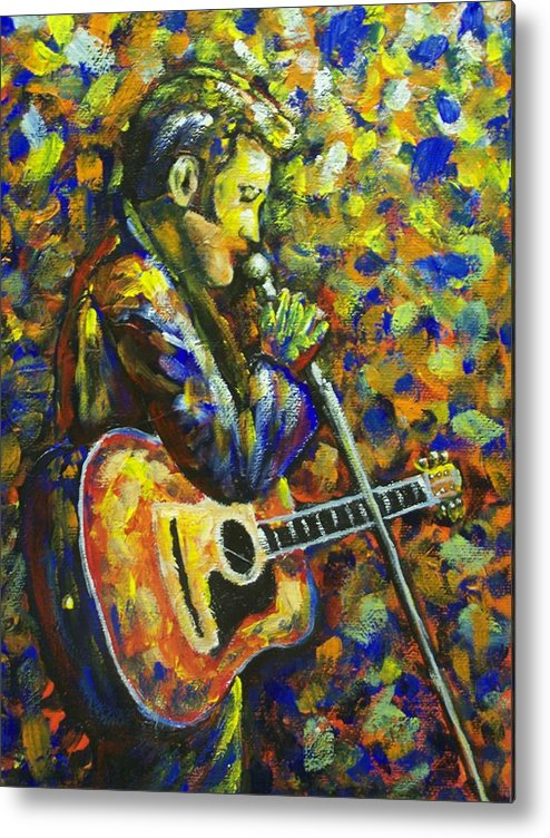 King Metal Print featuring the painting Love Me Tender by Charles Vaughn