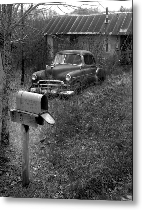 Ansel Adams Metal Print featuring the photograph Mailboxcar by Curtis J Neeley Jr