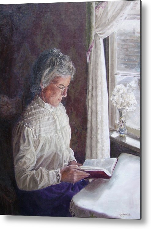 Barkerville Metal Print featuring the painting Miss Wendle-Barkerville by Tahirih Goffic