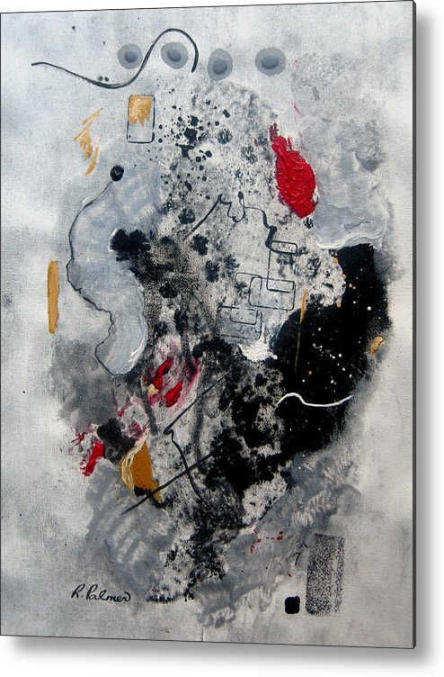 Abstract Metal Print featuring the painting Moods II by Ruth Palmer