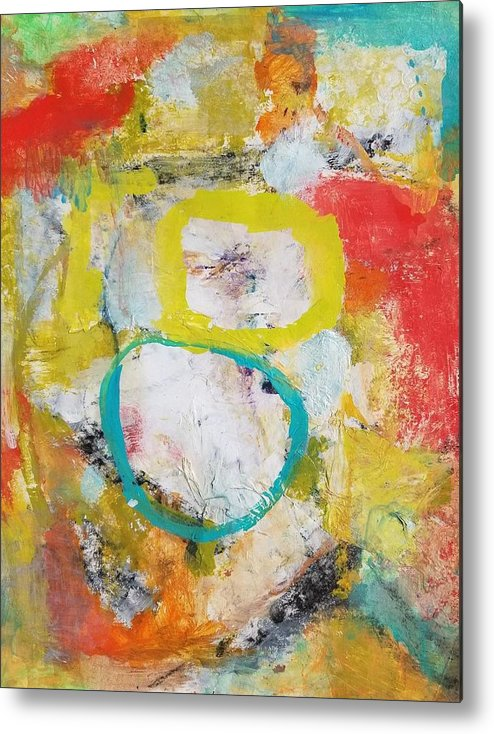 Abstract Metal Print featuring the painting Morning Calm by Patricia Byron