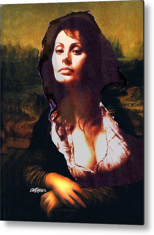 Mona Lisa Metal Print featuring the digital art My Real Mona Lisa by Seth Weaver
