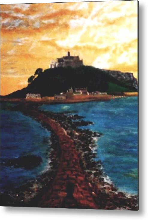 Beaches Metal Print featuring the painting Near Penzance St. Michaels Mount by Richard Hubal
