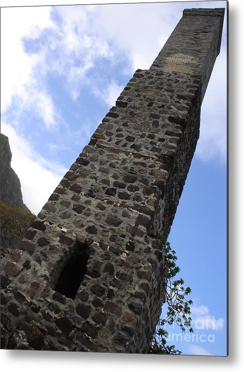 Old Stonework Metal Print featuring the photograph Old Stonework by Chandelle Hazen