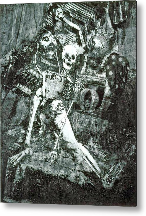 Female Metal Print featuring the mixed media Penelope Waiting by Randy Sprout