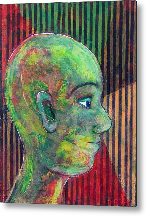 Face Metal Print featuring the painting Poetry Man by Rollin Kocsis