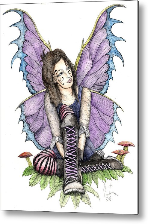 Gothic Fairy Metal Print featuring the painting Purple Laces by Preston Shupp
