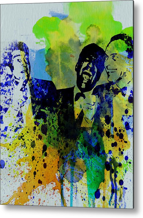 Frank Sinatra Metal Print featuring the painting Rat Pack by Naxart Studio