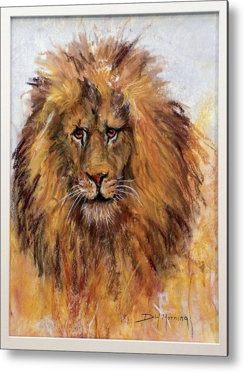 Lion Metal Print featuring the painting Regis by David Horning