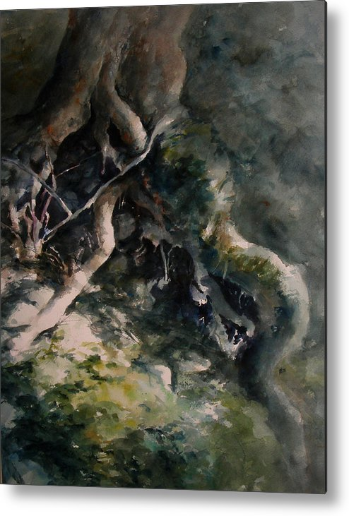 Nature Metal Print featuring the painting Revealed by William Russell Nowicki
