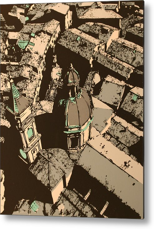 Metal Print featuring the print Roofs of Bologna by Biagio Civale