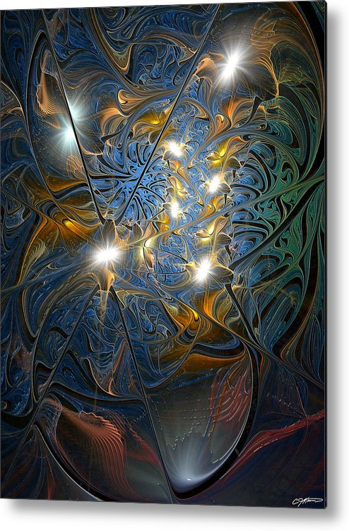 Abstract Metal Print featuring the digital art Serendipitous Trope by Casey Kotas