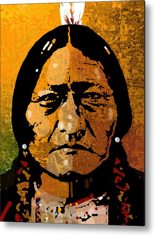 Native American Metal Print featuring the painting Sitting Bull by Paul Sachtleben