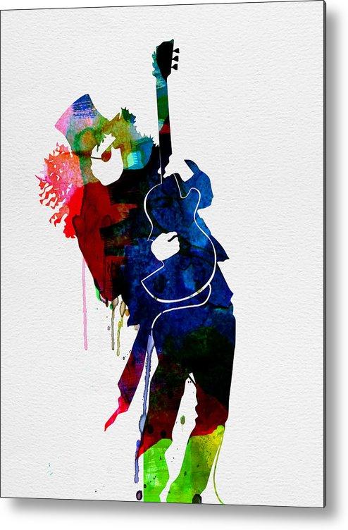 Slash Metal Print featuring the painting Slash Watercolor by Naxart Studio