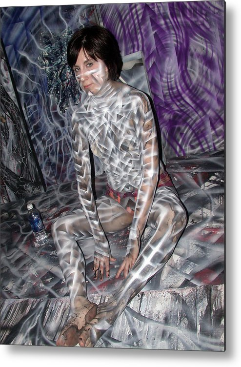 Body Paint Metal Print featuring the painting Spiral 3 by Leigh Odom