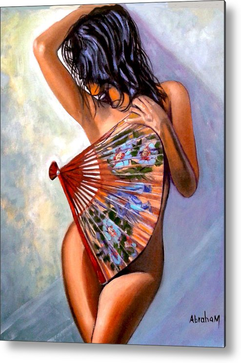 Women Metal Print featuring the painting Susie by Jose Manuel Abraham