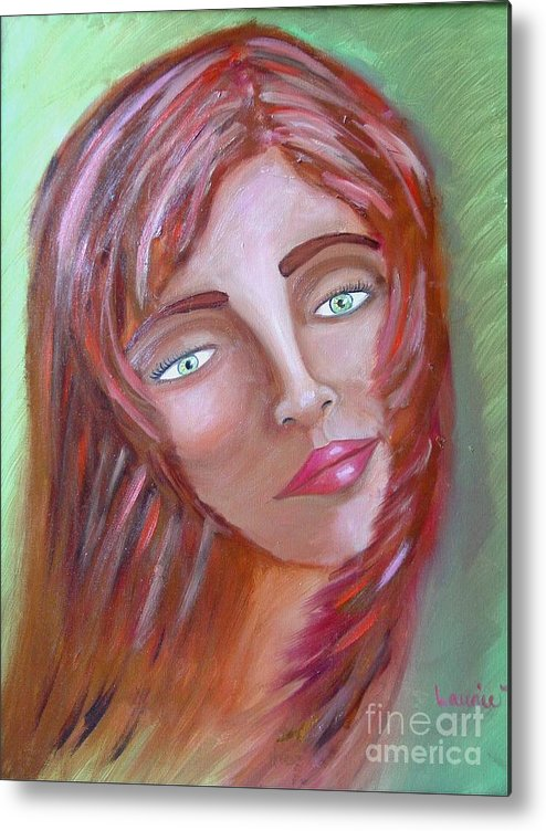 Redheads Metal Print featuring the painting The Redhead by Laurie Morgan