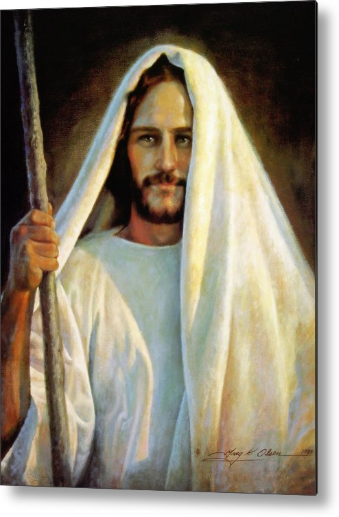 Jesus Metal Print featuring the painting The Savior by Greg Olsen