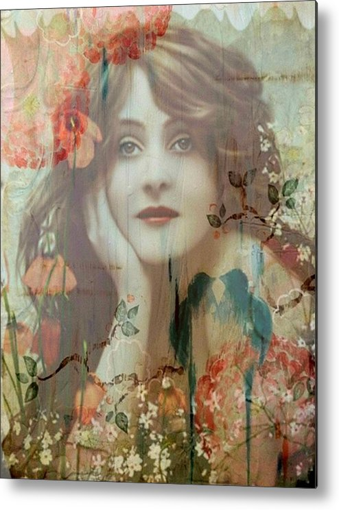 Women Metal Print featuring the painting The She by Laura Botsford