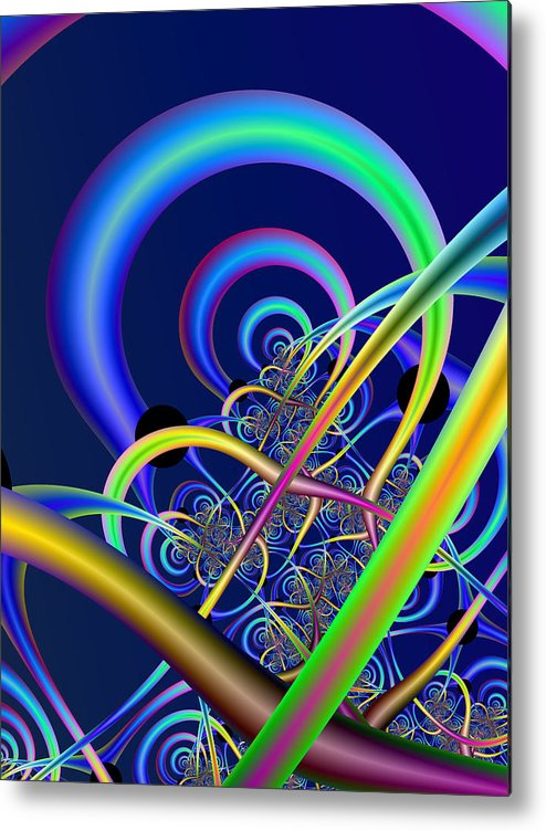 Fractal Metal Print featuring the digital art Tubules by Frederic Durville