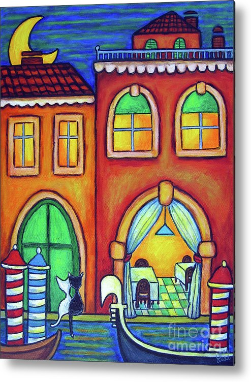 Venice Metal Print featuring the painting Venice Valentine II by Lisa Lorenz