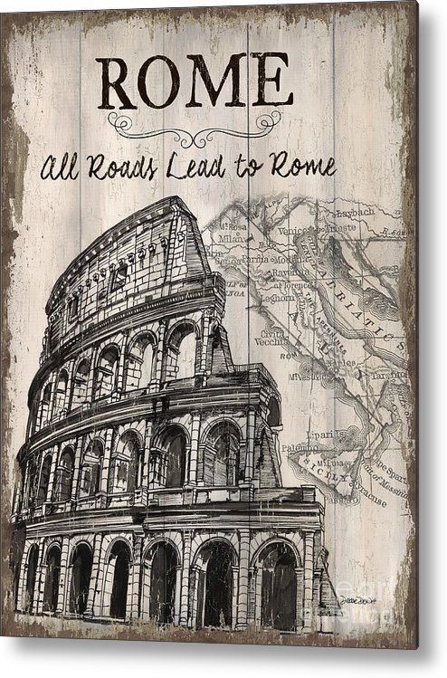Rome Metal Print featuring the painting Vintage Travel Poster by Debbie DeWitt