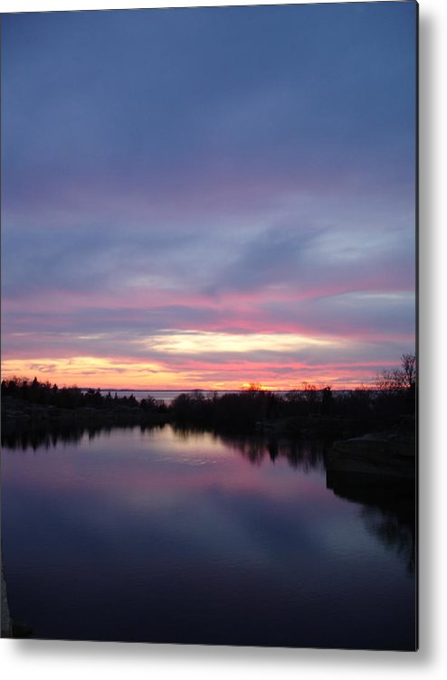 Landscape Metal Print featuring the photograph Water to Water by Chad Natti