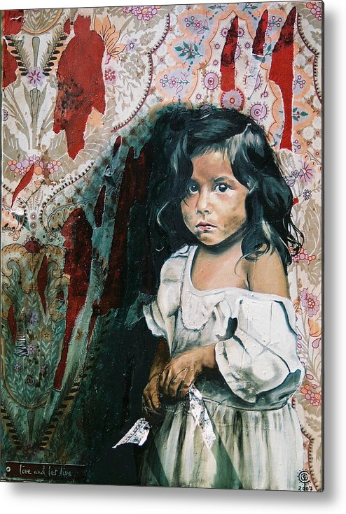 Asian Girl Metal Print featuring the painting What Is My Worth by Teresa Carter