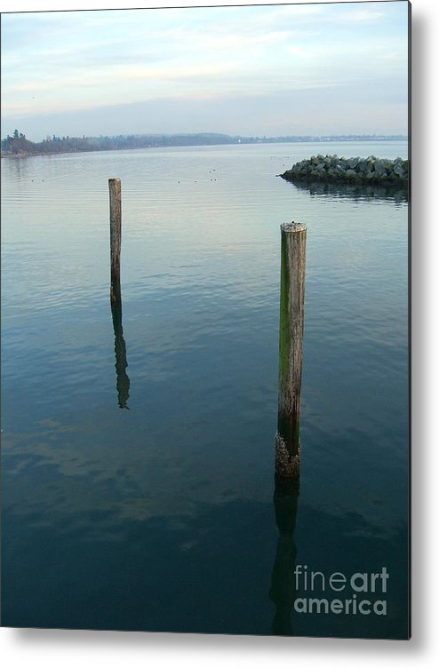 Water Metal Print featuring the photograph White Rock Water by Jim Thomson