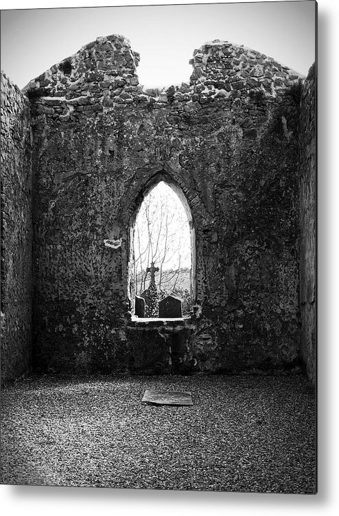 Ireland Metal Print featuring the photograph Window at Fuerty Church Roscommon Ireland by Teresa Mucha