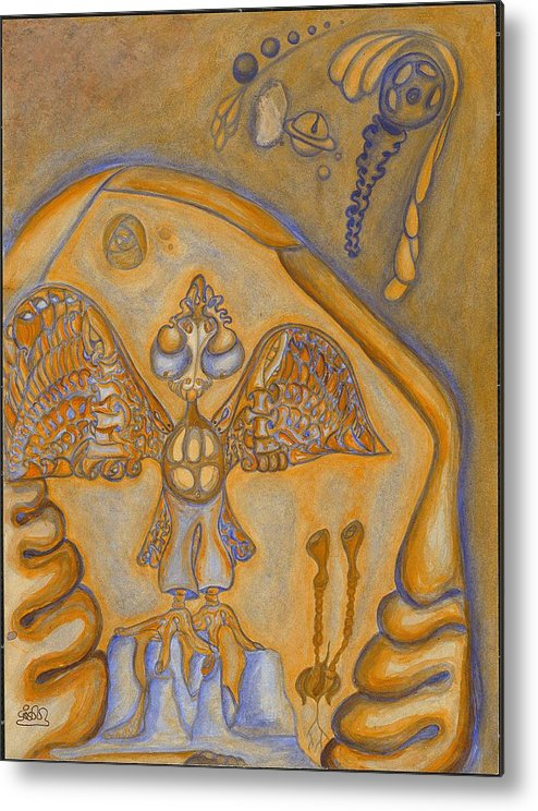 Fantasy Metal Print featuring the painting Wings of It by      Gillustrator