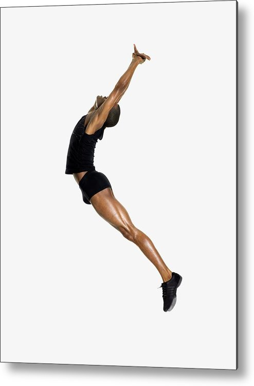 Young Men Metal Print featuring the photograph Male Dancer Jumping by Image Source