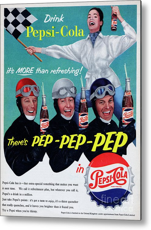 1950-1959 Metal Print featuring the photograph Pepsi-cola by Picture Post