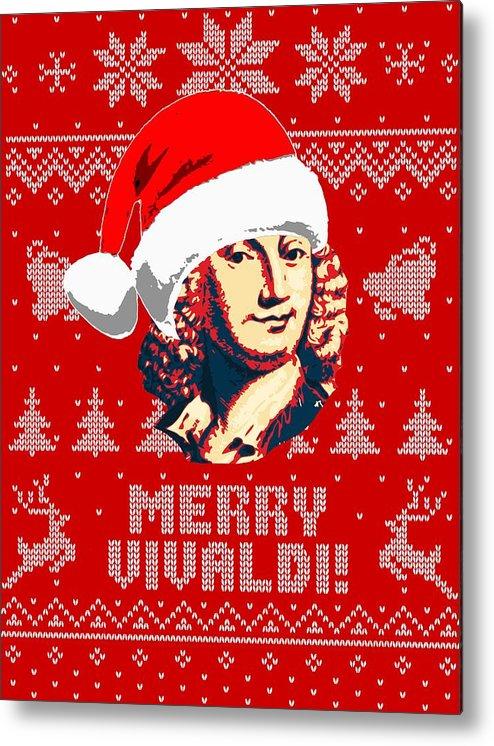 Santa Metal Print featuring the digital art Antonio Vivaldi Merry Vivaldi by Filip Hellman