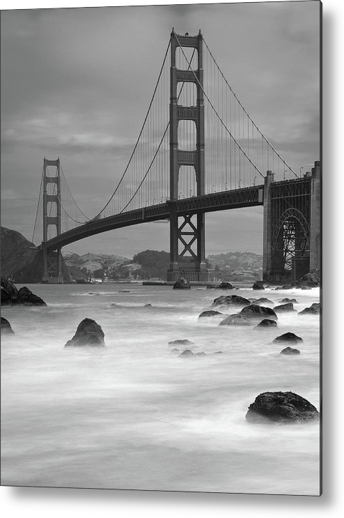 Tranquility Metal Print featuring the photograph Baker Beach Impressions by Sebastian Schlueter (sibbiblue)