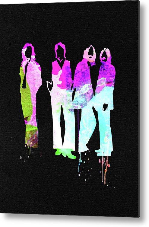 Metal Print featuring the mixed media Beatles Watercolor II by Naxart Studio