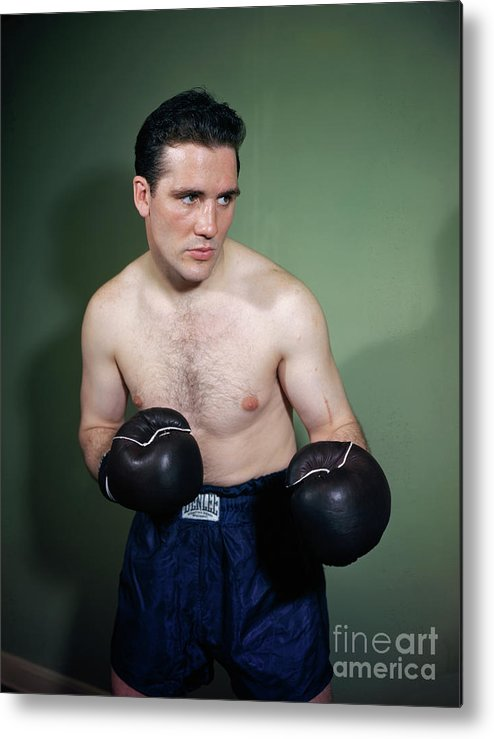 People Metal Print featuring the photograph Billy Conn Posing In Boxing Attire by Bettmann