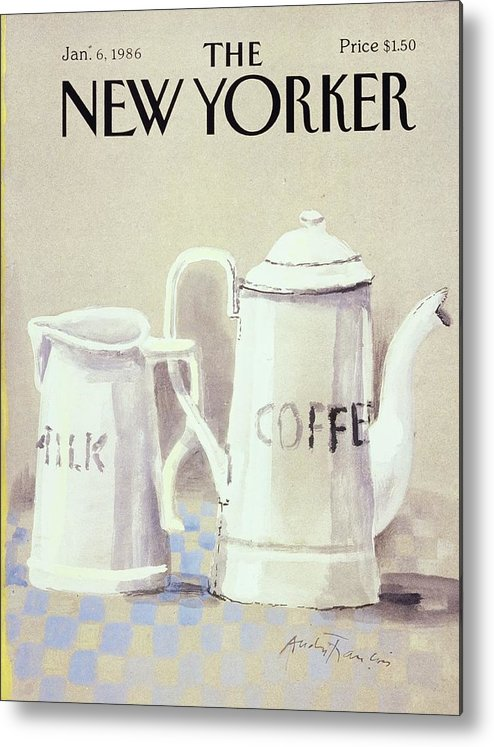 Illustration Metal Print featuring the painting Cafe au Lait by Andre Francois