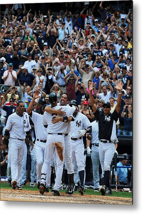 American League Baseball Metal Print featuring the photograph Derek Jeter by New York Daily News