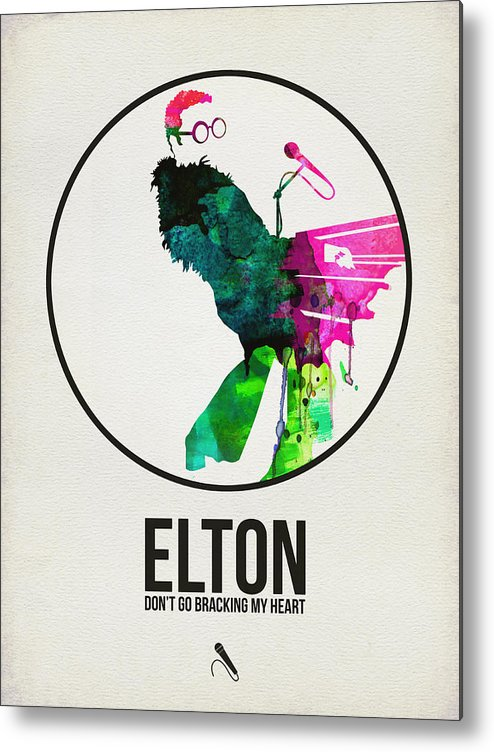 Elton John Metal Print featuring the digital art Elton Watercolor Poster by Naxart Studio