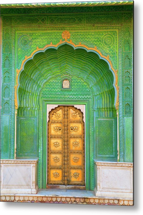 Tranquility Metal Print featuring the photograph Entrance To Palace by Grant Faint