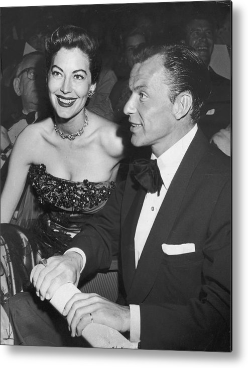 Singer Metal Print featuring the photograph Frank & Ava by Archive Photos